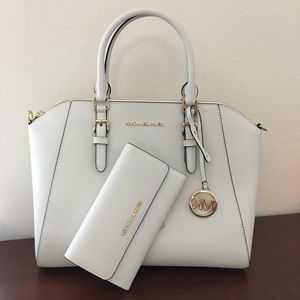 Michael kors large Ciara satchel Wallet set